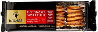 Snack Tailandês Kalassi sem Glutén Rice Cracker Sweet Chilli 100g
