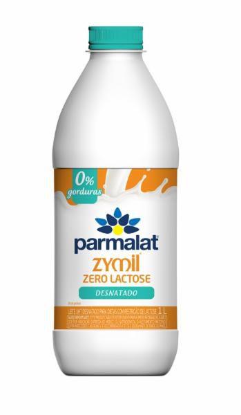 Leite Longa Vida Parmalat Zymil Zero Lactose  Desnatado 1L