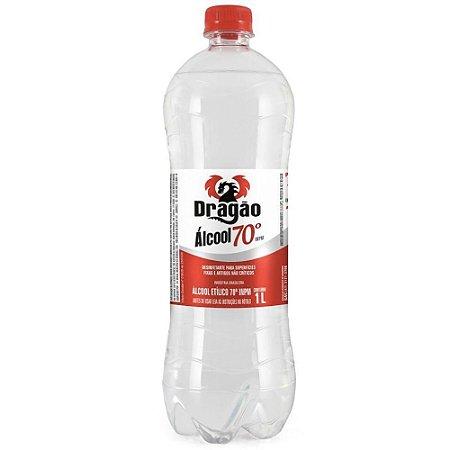 Álcool Etílico Dragão 70º INPM 1litro