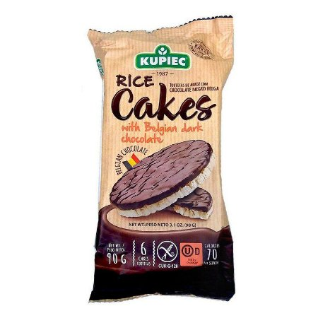 Biscoito Arroz Polonês Kupiec C/Cobertura Chocolate Meio Amargo 90g