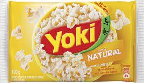 Pipoca Microondas Popcorn Yoki  Natural 100g