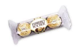 Bombom Ferrero Rocher T3 37,5g