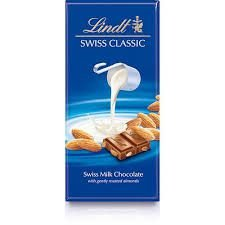 Chocolate Suiço Lindt Classic Milk Almond 100g