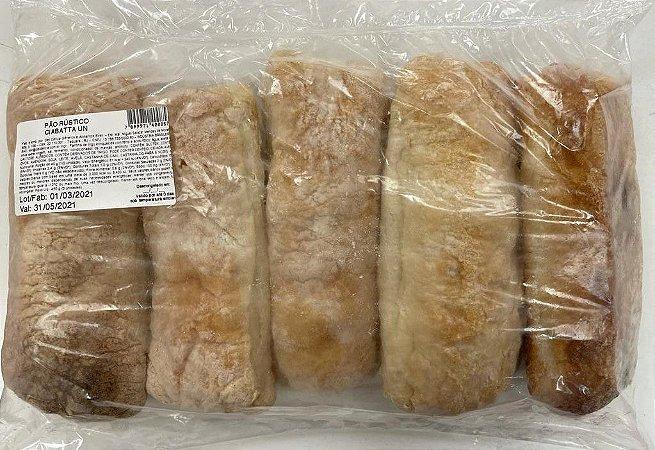 Pão Rústico Ciabatta Assado e Congelado com 5 unidades