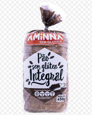 Pão Aminna Integral Sem Glúten Congelado 450g