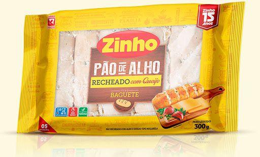 Pão De Alho Zinho Baguete Recheado C/Queijo 300g