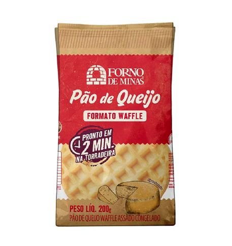 Waffle Forno De Minas Assado e Congelado 200g