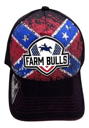 Boné De Cavalgada Estampa Estados Unidos Farm Bulls Novo