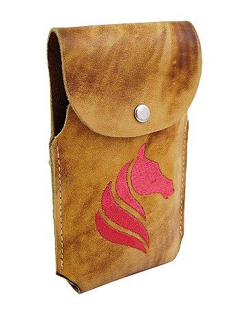 Porta Celular Cavalo -Amarelo