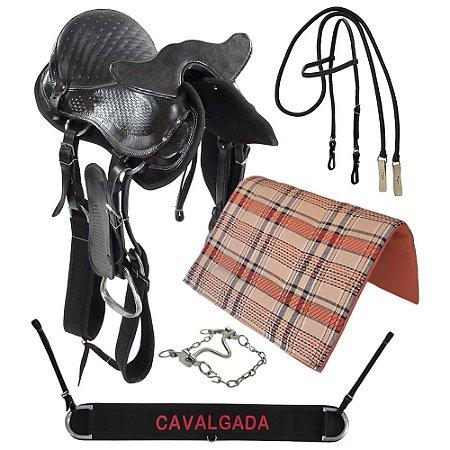 Kit Sela com Cabeça Tradicional Preta