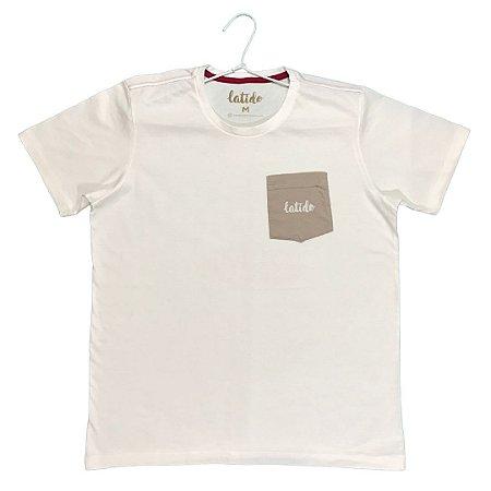 Camiseta Latido off-white bolso