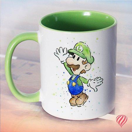 Caneca Luigi & Fire Flower