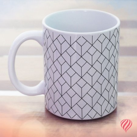 Caneca Decor Geometric Black