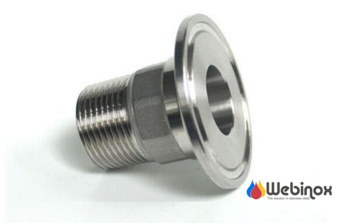 "Niple Adaptador TC 2"" x BSP/N (Macho) 1"" Inox 304"