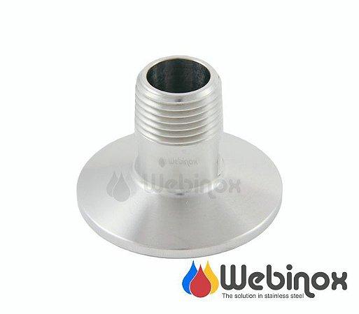"Niple Adaptador TC 2"" x BSP/N (Macho) 1.1/2"" Inox 304"