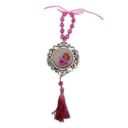 Medalhão de Berço Rosa