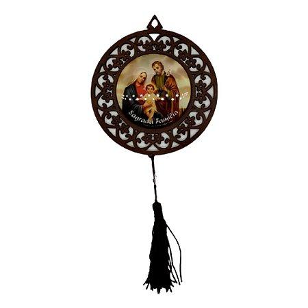 Mandala MDF Resinada Sagrada Familia
