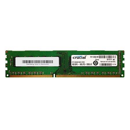 Memoria Pc 4Gb Ddr3 1600 Udimm CT51264BA160B