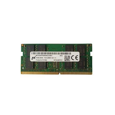 Memoria Notebook 16Gb Ddr4 2666 Sodimm MTA16ATF2G64HZ-2G6