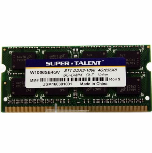 Memoria Notebook 4Gb Ddr3 1066 Sodimm W1066Sb4Gv