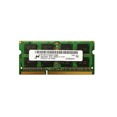 Memoria Notebook 4Gb Ddr3L 1600 Sodimm Mt8ktf51264hz-1g6p1