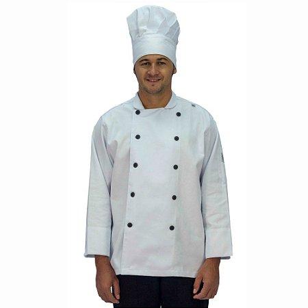 Jaqueta Chef Brim Manga Longa Branca
