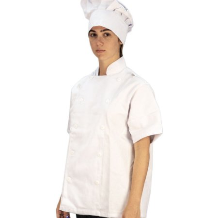 Jaqueta Chefe Brim Manga Curta Branco