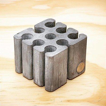 Porta Lápis Cement Grey