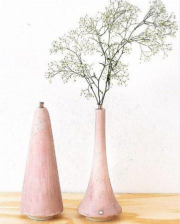 Vaso Slim Cement Rosa