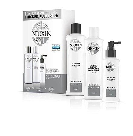 Nioxin Sistema 1 - Kit de Tratamento 150ml - Pequeno (3 Produtos)