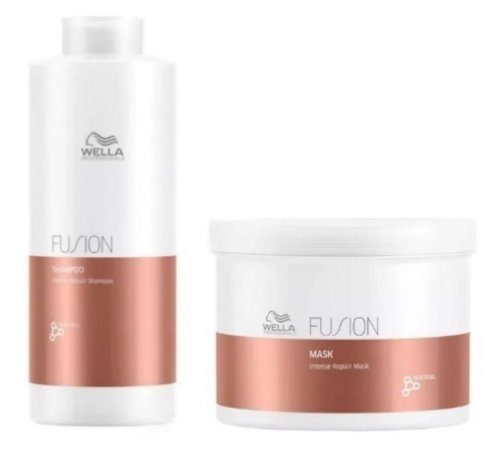 Kit Wella Fusion Shampoo (1 Litro) Máscara (500ml)