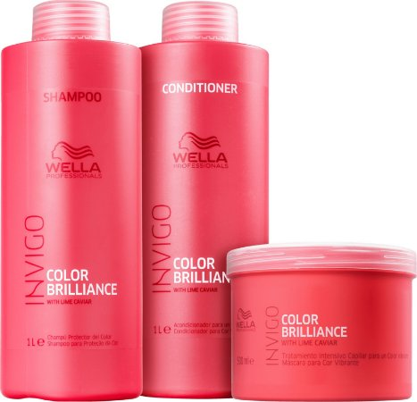 Kit Wella Professionals Invigo Nutri-Brillaince Salon Trio (3 Produtos)