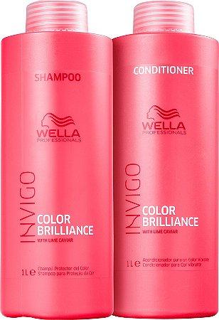 Kit Wella Invigo Brilliance Shampoo e Condicionador de 1 Litro