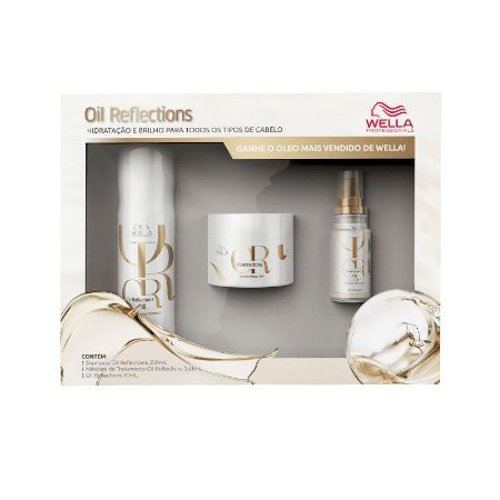 Kit Wella Professionals Oil Reflections Power Trio (3 Produtos)