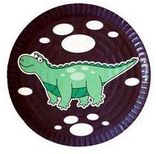 Prato descartável modelo Dinossauro