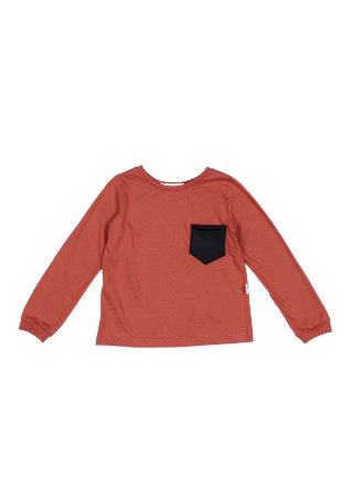 Camiseta manga longa com bolsinho Brick- Unissex