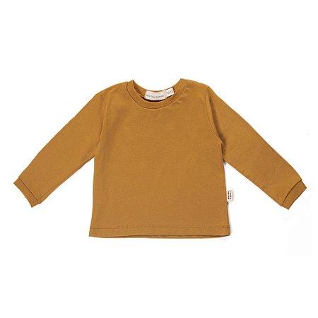 Camiseta manga longa Mostarda em algodão orgânico