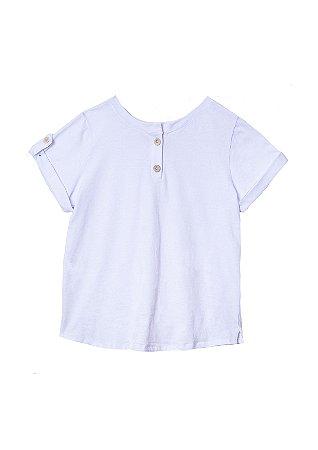 Camiseta unissex branca em algodão orgânico