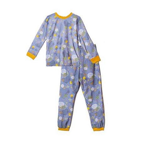 Pijama em Algodão Orgânico Estampado