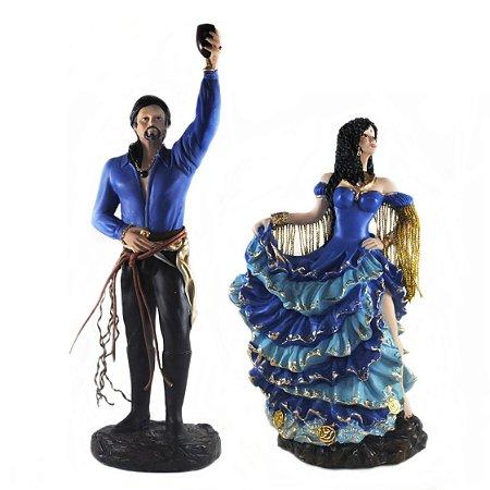 Casal de Ciganos Azul (Médio)