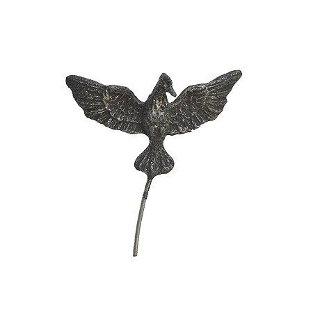 Pássaro de Ossain Médio Pintura em Prata