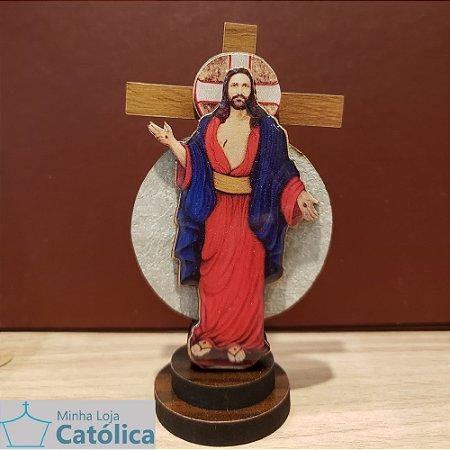 Cruz 3D Santas Chagas 15cm - 105061