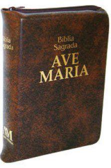 Bíblia zíper - média - marrom - 605298