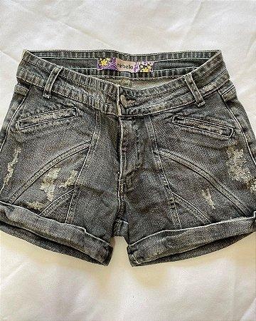 Shorts Jeans Preto Curto Verão