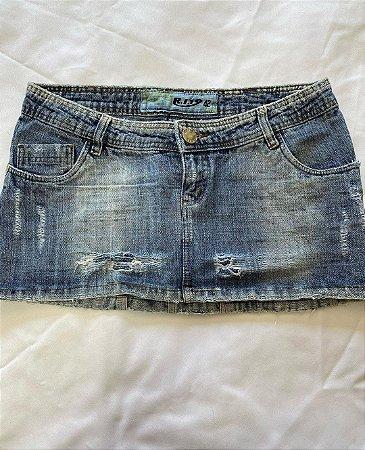 Saia Jeans Curta Verão