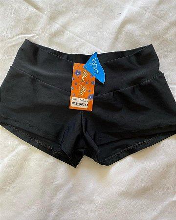 Shorts Lycra Curtinho Preto