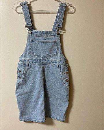 Jardineira Saia Jeans Verão