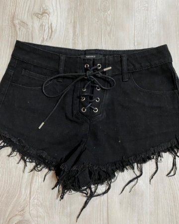Shorts Jeans Preto Importado