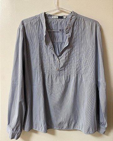 Camisa Soltinha Listrada Azul