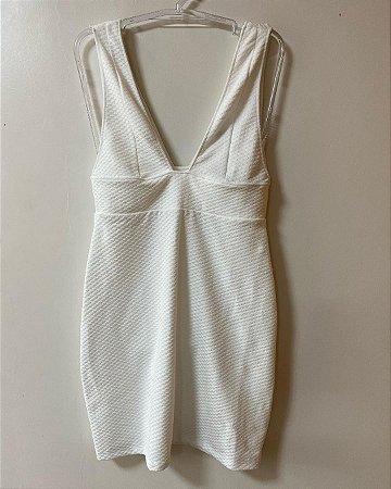 Vestido Branco Hering Decote Profundo